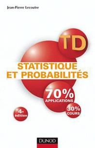 Livre TD Statistique et probabilités - 4e édition Travaux dirigés