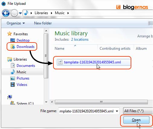 Cara Kembali Menggunakan Backup Template Blog Sendiri