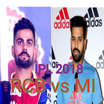 Cricket, IPL 2018 MI vs RCB