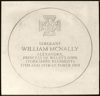 Sergeant William McNally's Victoria Cross paving stone, image courtesy of John Attle