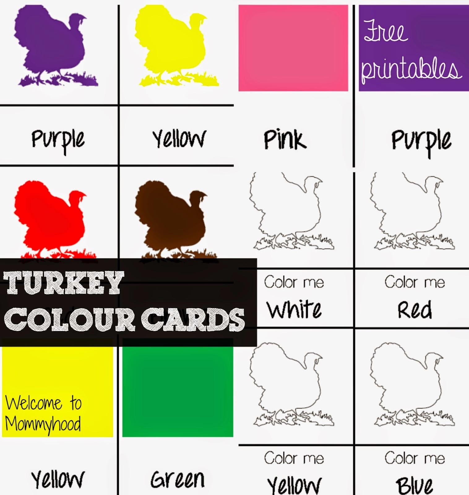 Free Thanksgiving Preschool Printables