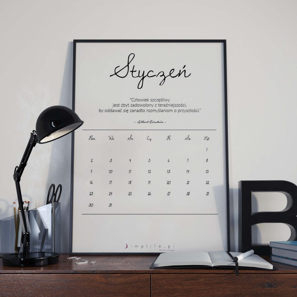 darmowy kalendarz do druku na 2017 rok.