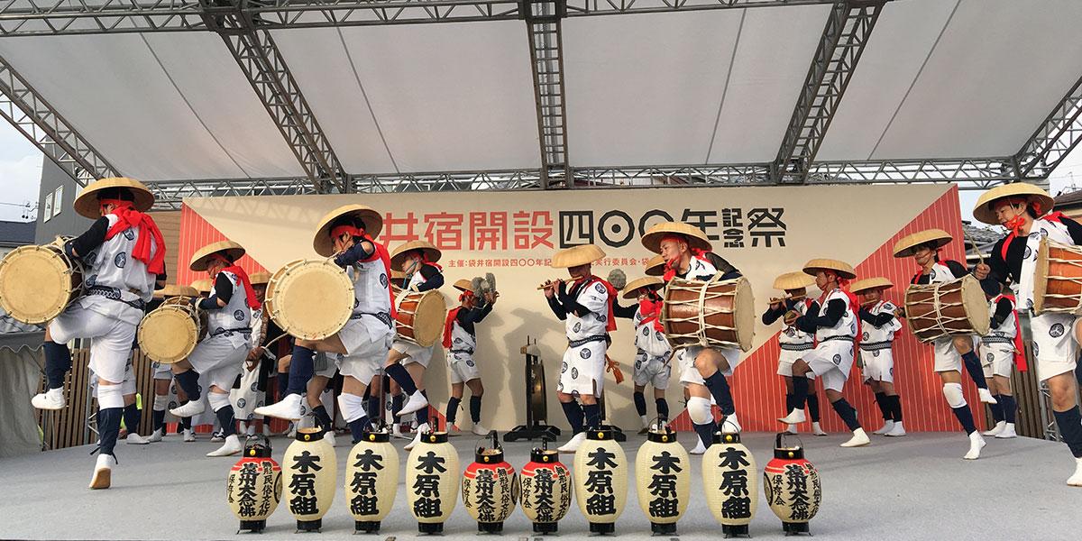 袋井宿開設400年祭でステージ披露された木原大念仏
