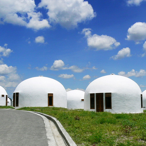 Tinuku Construction earthquake-resistant design dome home village in Yogyakarta
