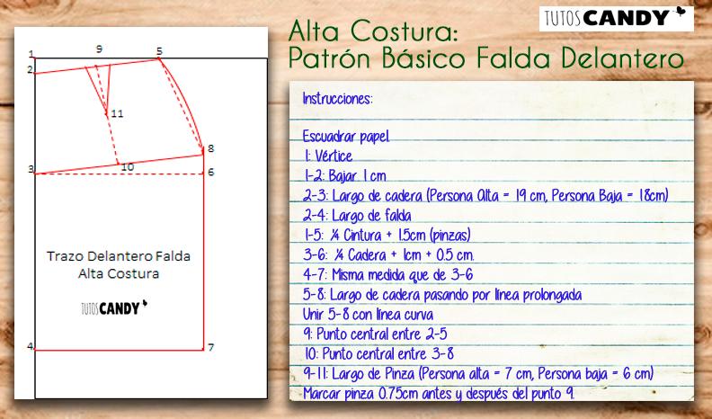 DIY Patrón Alta Costura Falda - TutosCandy