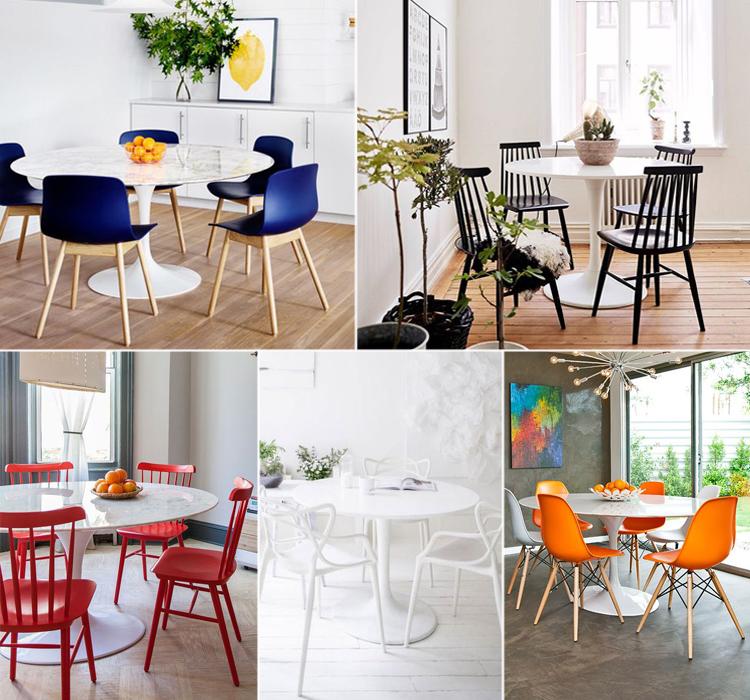 Come abbinare le sedie giuste al tavolo tulip for Tavolo piu sedie