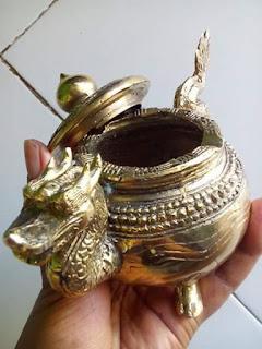 Dijual Asbak Antik Naga Bahan Kuningan - KENDAL