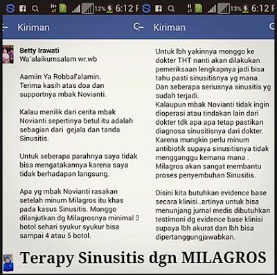 Testimoni Milagros Untuk Sinusitis