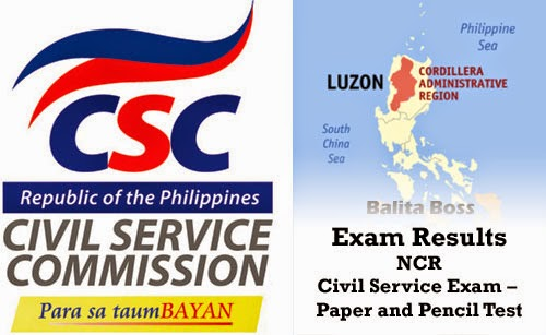 Cordillera Administrative Region - Civil Service Exam Results