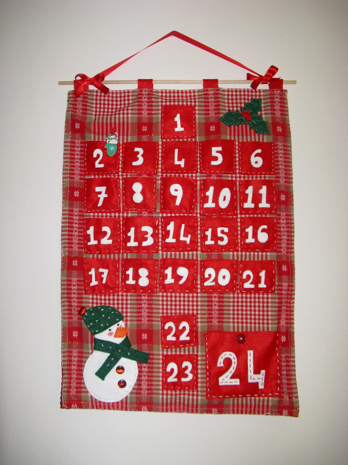 Calendario Dellavvento In Feltro.Battito D Ali By Gessy Calendario Dell Avvento