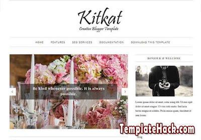 kitkat minimalist blogger template