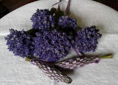 lavender bouquets, lavender baskets