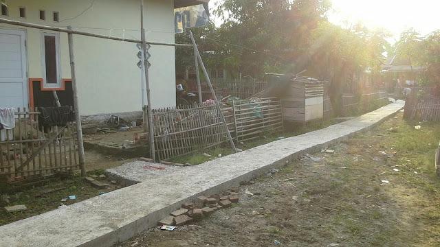 Pembangunan jalan lingkungan desa muara blanakan subang