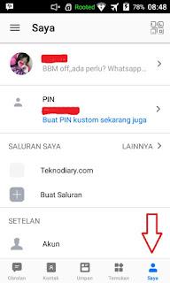cara mengganti password BBM
