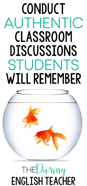 Conduct authentic and meaningful classroom discussions in your high school or middle school English classroom.