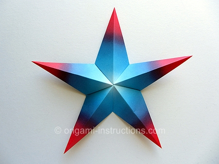 Modular star origami instructions - YouTube | 338x450
