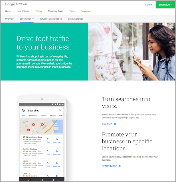 New AdWords Marketing Goals Website