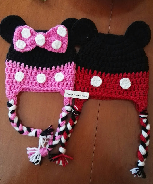 gorro lana mickey minnie