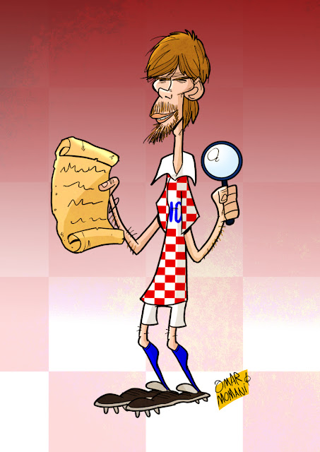 Zvonimir Boban cartoon caricature