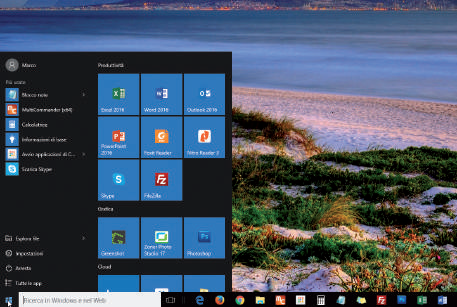 Il nuovo tasto Start di windows 10