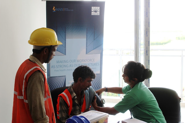 Emaar India organises Health Camp for its construction labourers on Dwarka Expressway