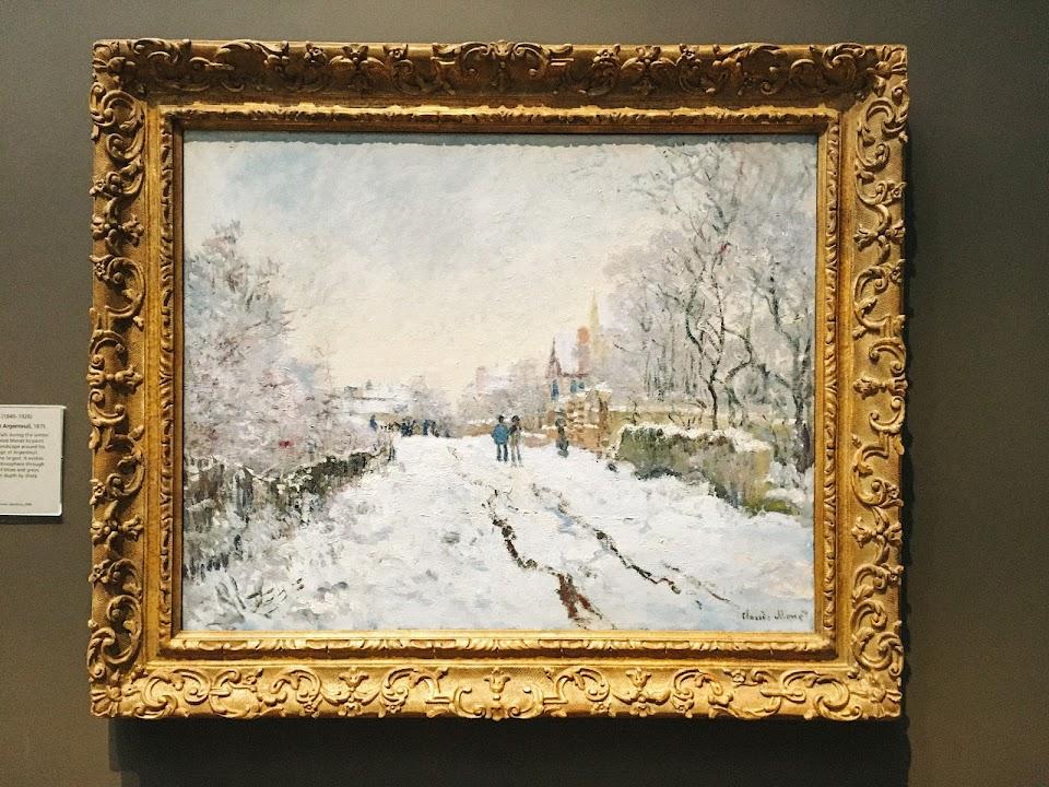 雪の中の通り、アルジャントゥイユ(Snow Scene at Argenteuil)1875年