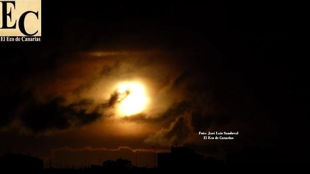 granizada amaneciendo en Las palmas de Gran Canaria viernes 19 febrero