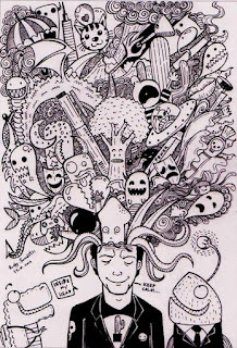 Doodle Art Head Explosion