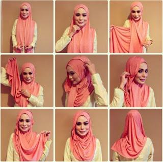 Tutorial jilbab pashmina sederhana untuk sehari-hari