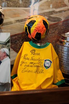 Camisa da seleção para papa francesco