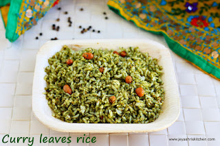 Pepper flavored curry leaves rice