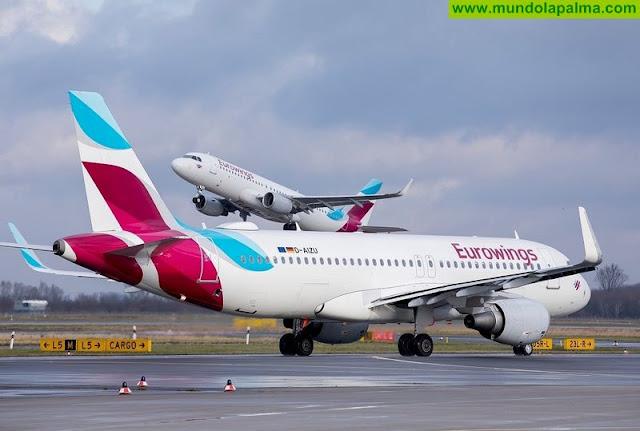 La Palma refuerza su conectividad con Alemania a través de un nuevo vuelo a Düsseldorf de la compañía Eurowings
