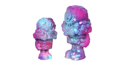 """Smurfberry"" Mister Melty Timed Edition Concrete Figures by Buff Monster"
