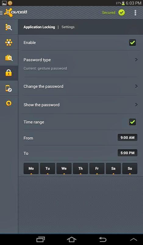 android avast app lock