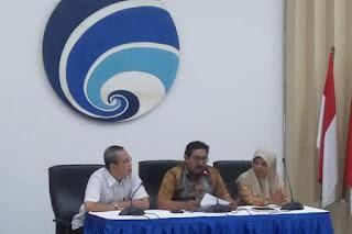 Konferensi pers terkait pencabutan izin frekuensi First Media di Kominfo, Jakarta, Jumat (28/12/2018) - Foto/KOMPAS.com