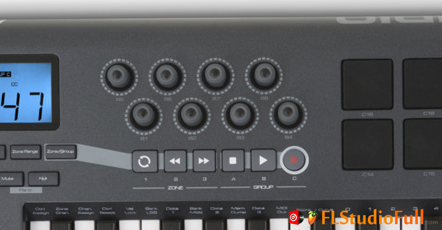 Teclado MIDI M-Audio Axiom 25 [Knoobs e Controladores de Player]