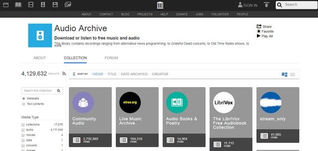 Internet Archive (Audio Archive)