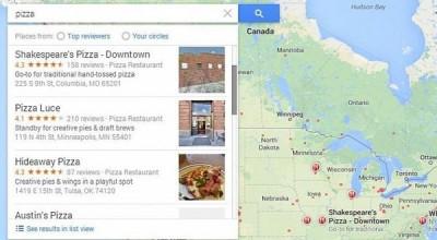 Update Google Maps, Sertakan Scroll Bar di Hasil Pencarian