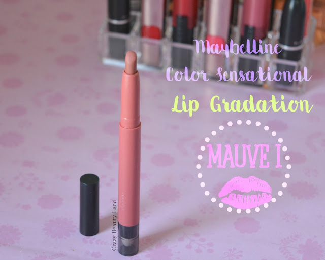 Maybelline Color Sensational Lip Gradation Mauve1 Review Swatches Price Dupe India