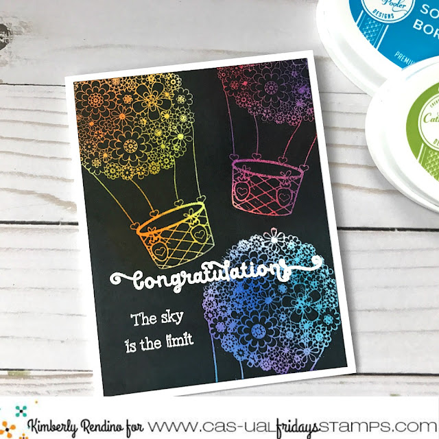 congratulations handmade card | hot air balloons | cas-ual fridays stamps | papercraft | cardmaking | clear stamps | handmade | kimpletekreativity.blogspot.com