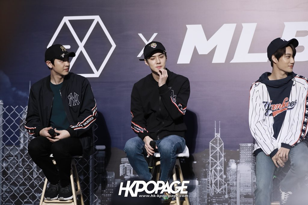 K-pop group EXO was in Hong Kong for the opening of MLB store 5f2395f94ed