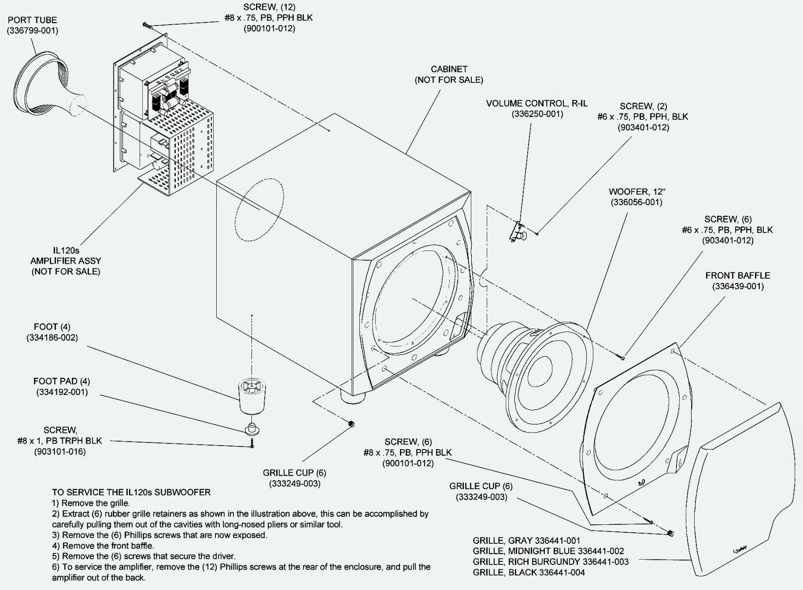 Infinity Il120s Sub Woofer Bias Adjustment Disassemble