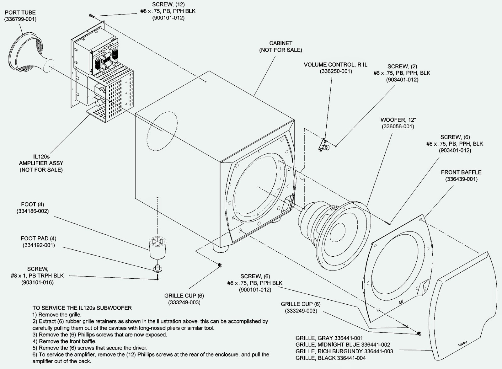 Infinity Il120s Sub Woofer