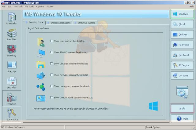 حل مشاكل الويندوز 10، 8.1 ، 7 عبر برنامج WinTools net Premium
