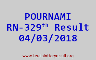 POURNAMI Lottery RN 329 Results 04-03-2018