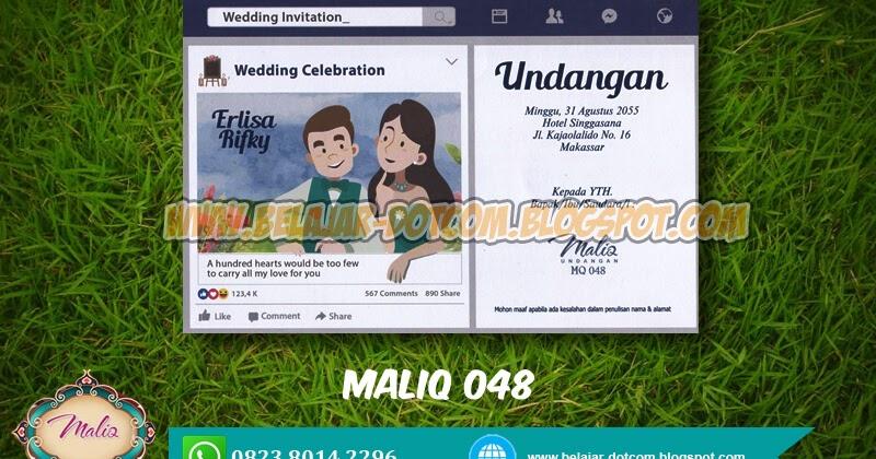 Download Undangan Model Facebook Maliq MQ 048 Free