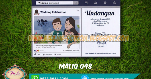 Download Undangan Model Facebook Maliq MQ 048 Free Template Format Cdr