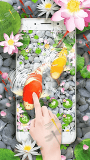 Lively Koi Fish 3D Theme - screenshot 2