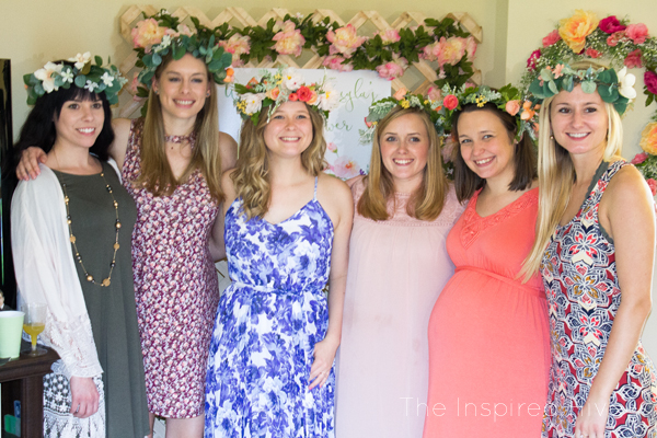 Beautiful DIY floral garden theme brunch bridal shower!
