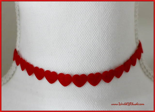 DIY Heart Choker Necklace | Valentine's Day Special